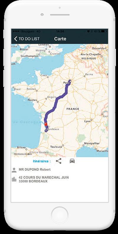 Système d'information et application mobile Cryo Express - Tracking