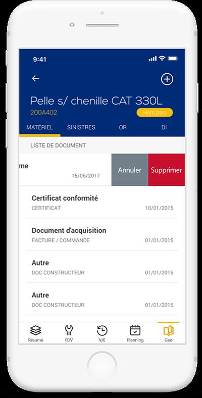 Consulter, ajouter ou supprimer des documents relatifs au matériel