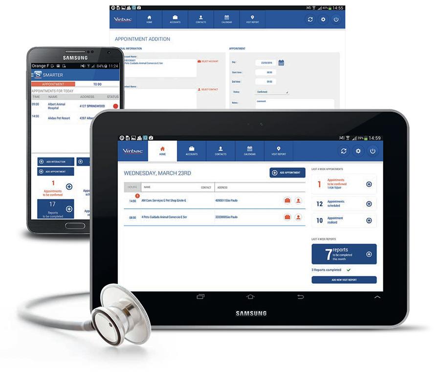 Système d'information et application mobile Virbac